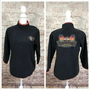 Harley Davidson Black Pullover Youth 12/14 Large